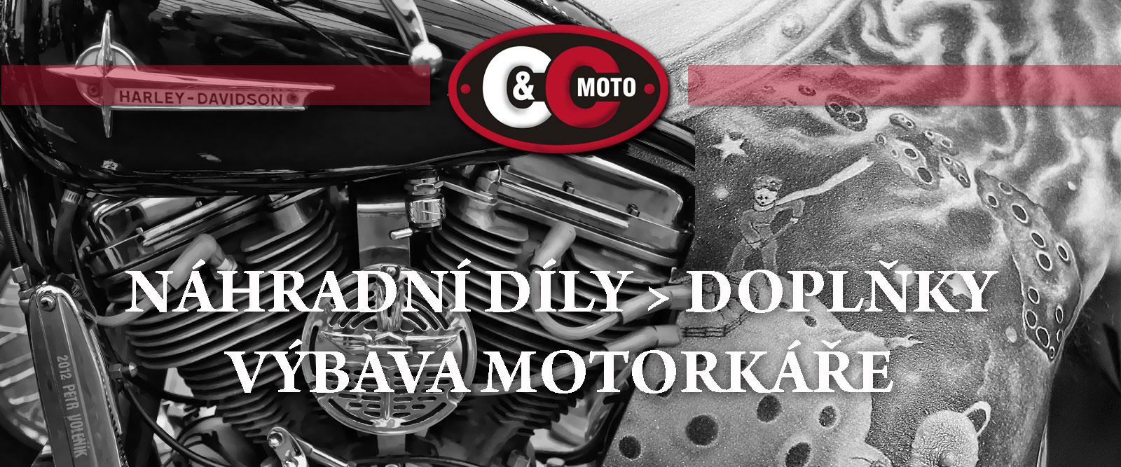Náhradní díly, výbava motocyklů